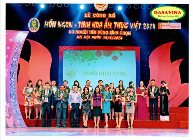 DASAVINA đạt danh hiệu vàng món ngon tinh hoa ẩm thực việt 2014 cho món Cá kho làng Vũ Đại và Chả mực Hạ Long
