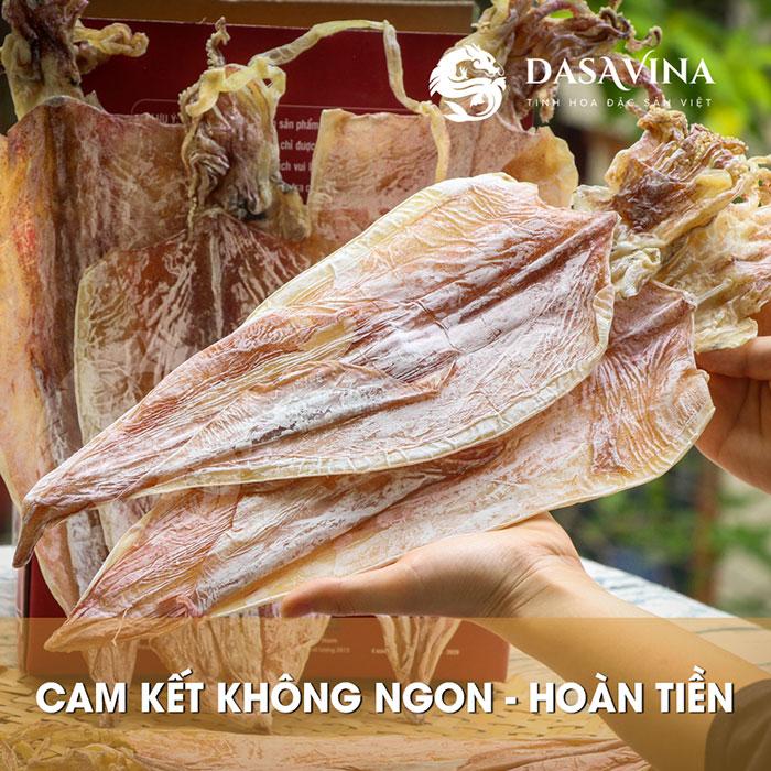 Mực khô Cô Tô Dasavina luôn được thực khách tin tưởng sử dụng