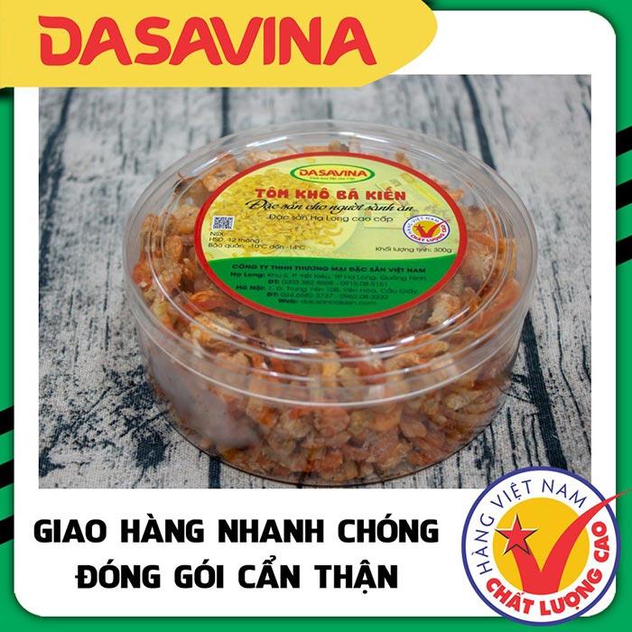 Tôm khô Hạ Lông là món ăn đặc sản được yêu thích nhất tại cửa hàng Đặc sản Bá Kiến