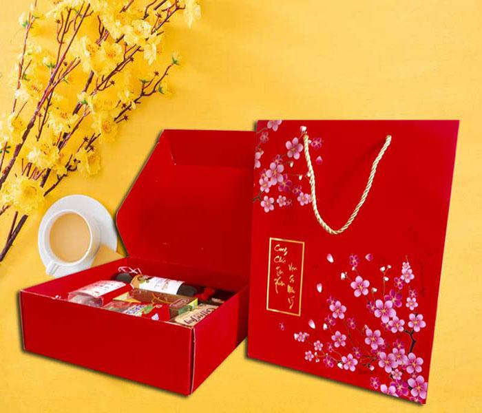 Túi quà làm từ giấy đa dạng về kiểu dáng, kích thước giúp khách hàng thoải mái lựa chọn